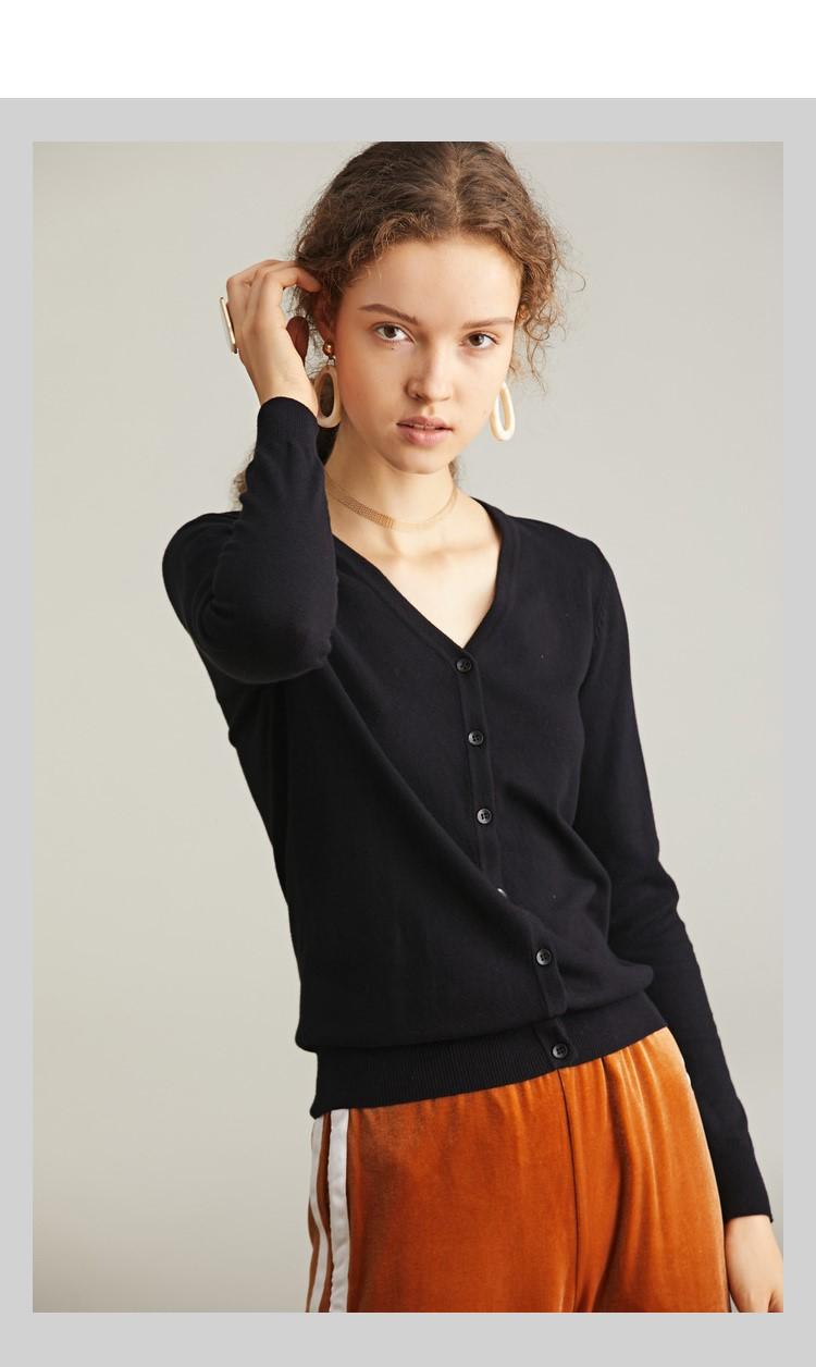 Áo len nữ form ngắn Đen N17