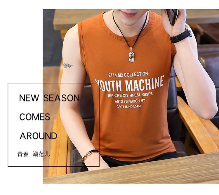 ÁO THUN BA LỖ NAM YOUTH MACHINE NÂU AT313