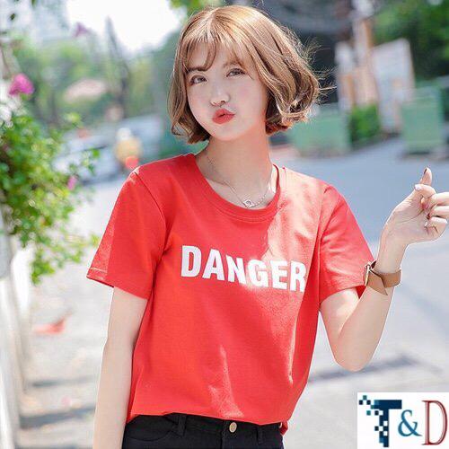 ÁO THUN NỮ DANGER ĐỎ D771