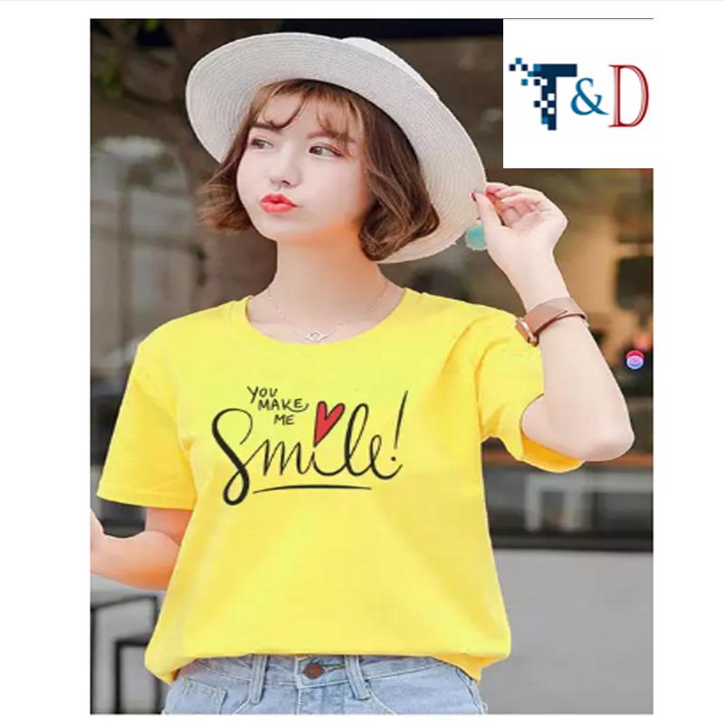 ÁO THUN NỮ SMILE VÀNG D713
