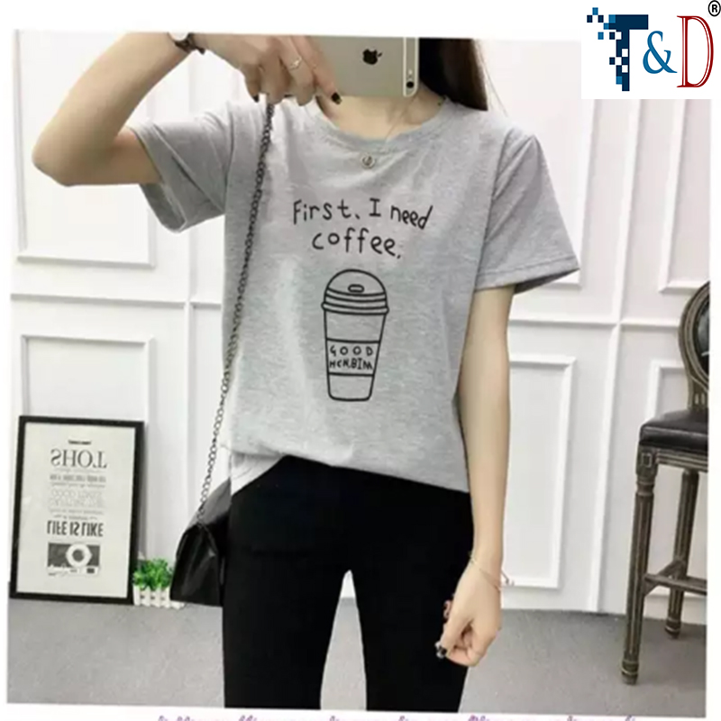 ÁO THUN NỮ COFFEE MÀU XÁM D757