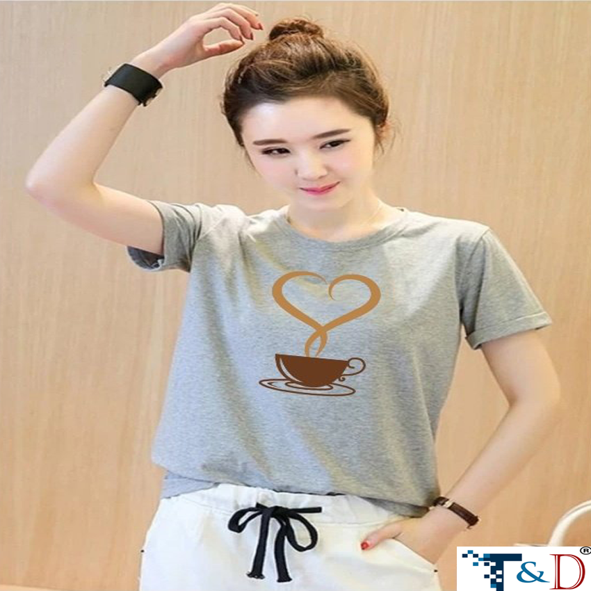 ÁO THUN NỮ LY COFFEE XÁM D597