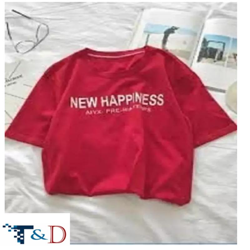 ÁO THUN NỮ HAPPINESS ĐỎ D747