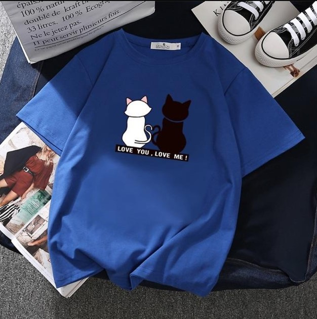 Áo Thun Tay Lỡ Mèo Cute Cực Xinh Form Rộng Dưới 85kg Mặc Đẹp XANH BÍCH D1091