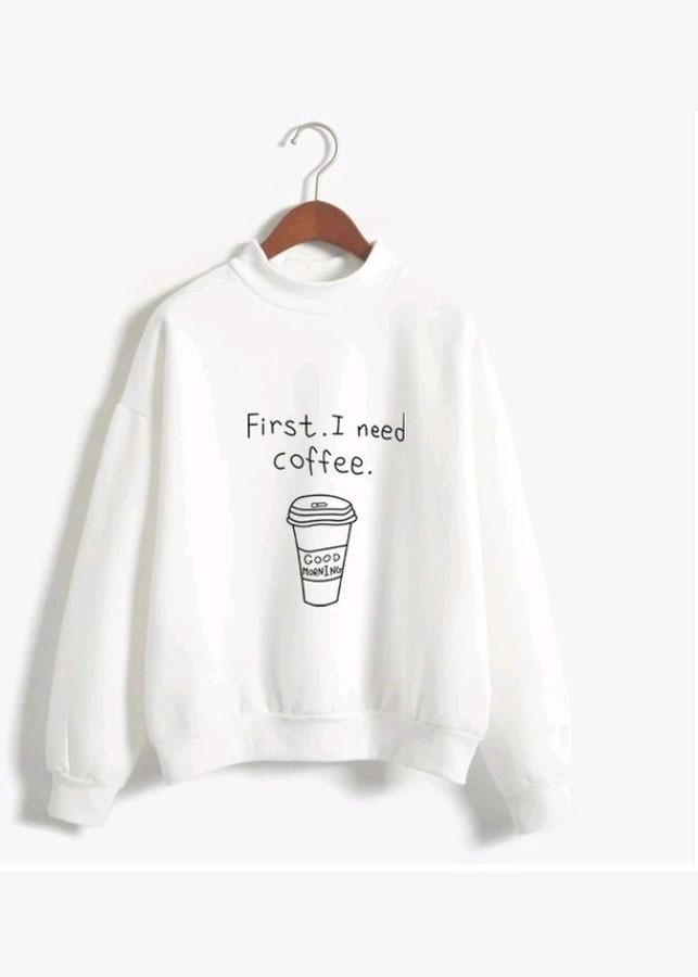 Áo Thun Nữ Sweater Coffee TRẮNG D441
