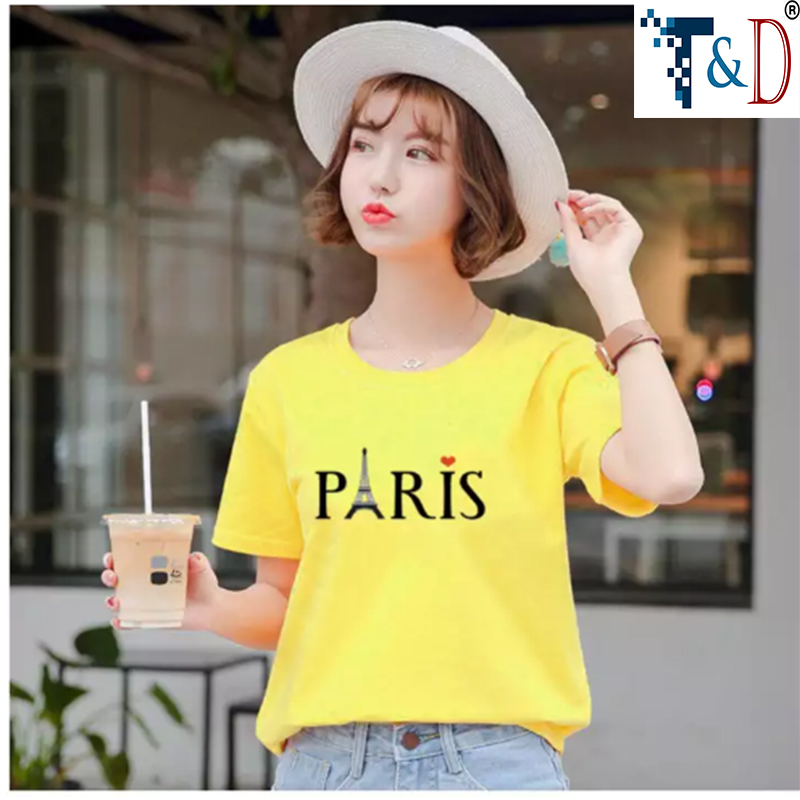 ÁO THUN NỮ PARIS MÀU VÀNG D704