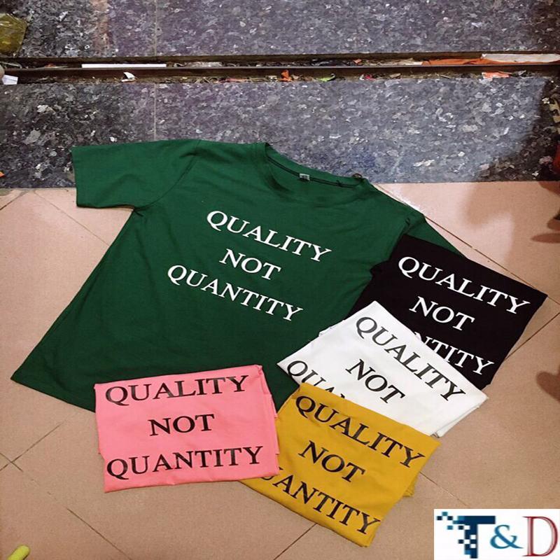 ÁO THUN NỮ QUALITY TRẮNG D816