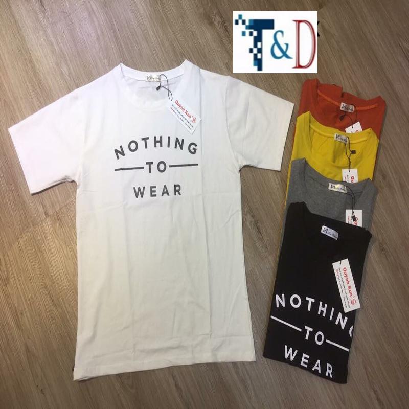 ÁO THUN NỮ NOTHING TRẮNG D819
