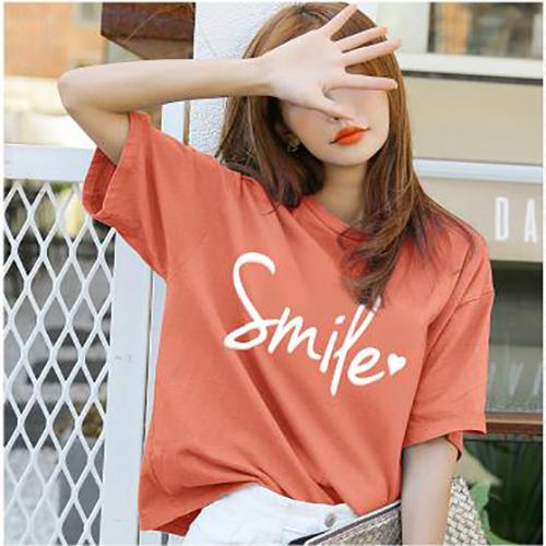 ÁO THUN NỮ SMILE CAM NHẠT D1016