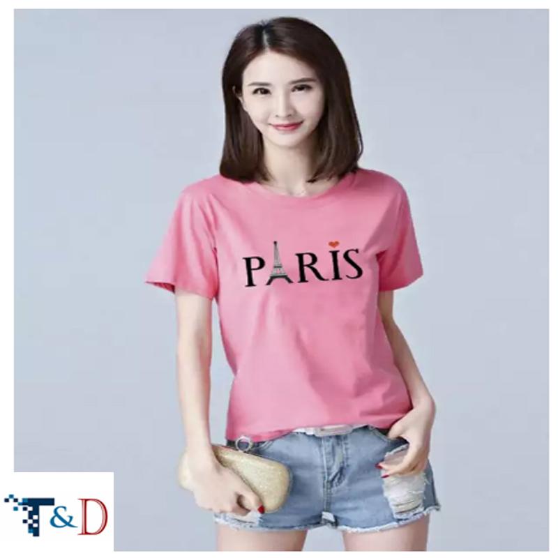 ÁO THUN NỮ PARIS MÀU HỒNG D701