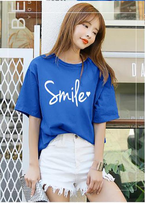 ÁO THUN NỮ SMILE XANH BÍCH D1013