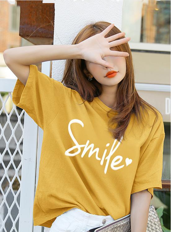 ÁO THUN NỮ SMILE VÀNG D1015