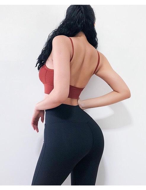 Áo bra dệt hở lưng CAM ĐẤT P01