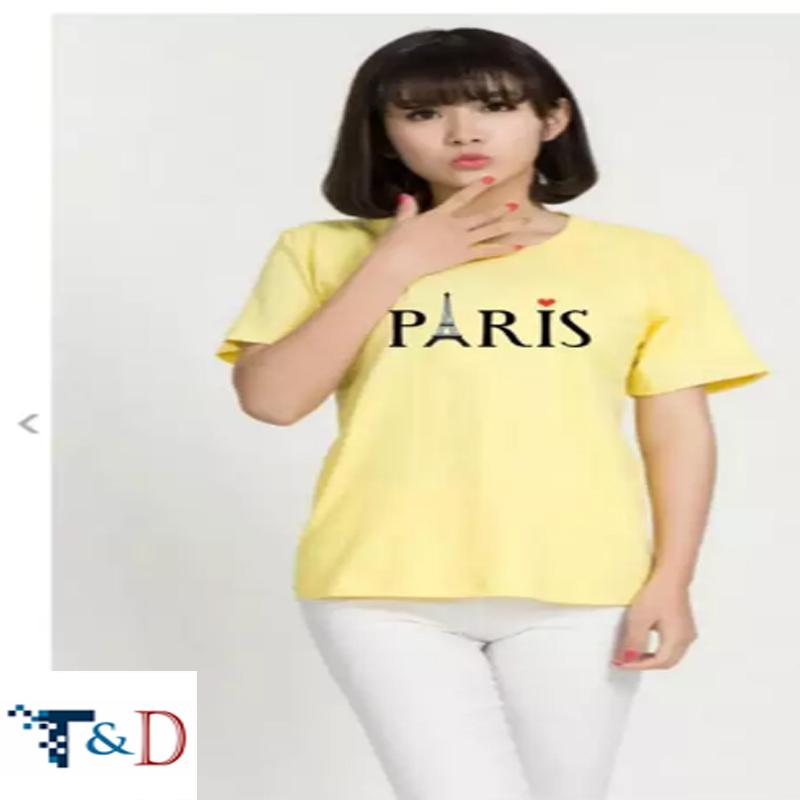 ÁO THUN NỮ PARIS MÀU VÀNG D705
